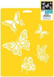 Stencil Mania Stencil 7X10 butterflies